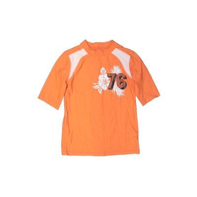 Old Navy Rash Guard: Orange Soli...