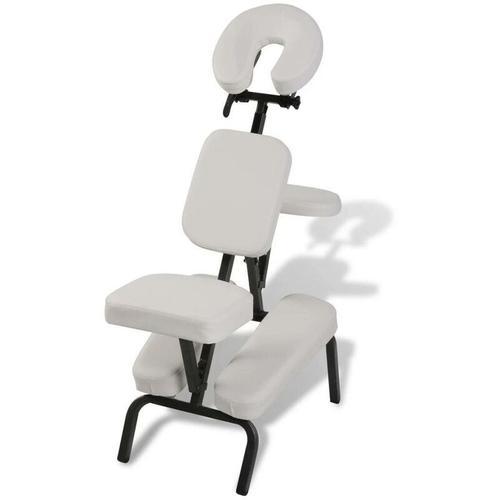 Massagestuhl, zusammenfaltbar und portabel Weiß 00134