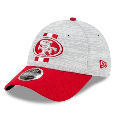 Men's San Francisco 49ers New Era Gray/Scarlet 2021 NFL Training Camp Official 9FORTY Adjustable Hat