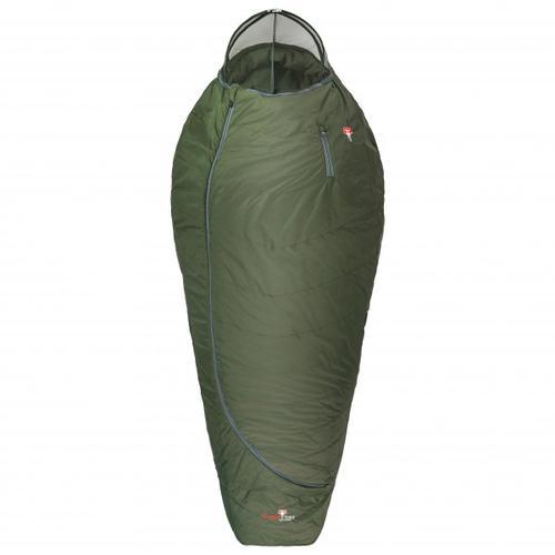 Grüezi Bag - Biopod Wolle Survival XXL Wide - Kunstfaserschlafsack Gr 205 cm Grün