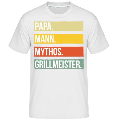 Papa Mann Mythos Grillmeister - Shirtinator Männer T-Shirt