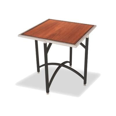"""Forbes Industries 7036W-30 36"""" Square Collapsible Table w/ Hardwood Top & Black Steel Frame - 30""""H"""