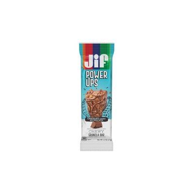 Jif PowerUp Chewy Granola Bars - Individually Wrapped - Peanut Butter, Chocolate - Box - 6.50 oz - 5 / Box - FOL24470