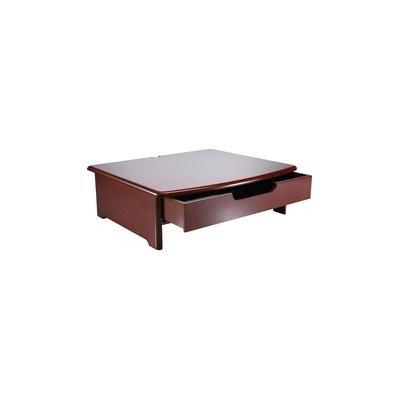 Rolodex Wood Tone Monitor Stands - 35 lb Load Capacity - Desktop - Mahogany - ROL82436