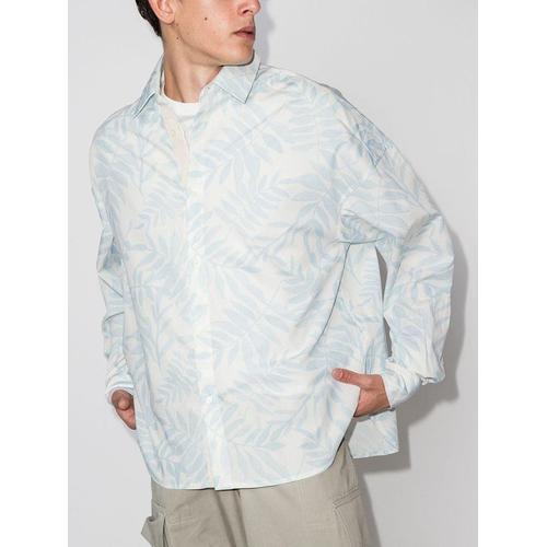 Jacquemus Hemd mit Blatt-Print
