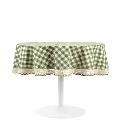 Buffalo Check Round Tablecloth - 70-in by Achim Home Dcor in Sage