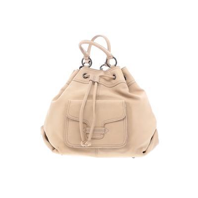 Sorial Bucket Bag: Tan Solid Bags