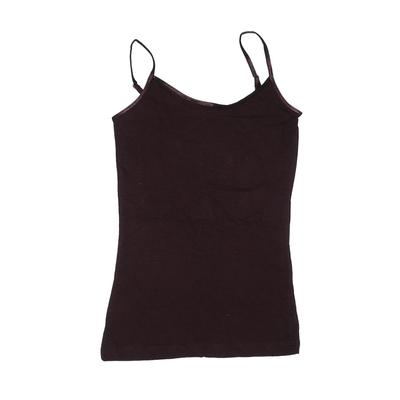 Grip Activewear Active Tank Top: Brown Solid Sporting & Activewear - Size Medium