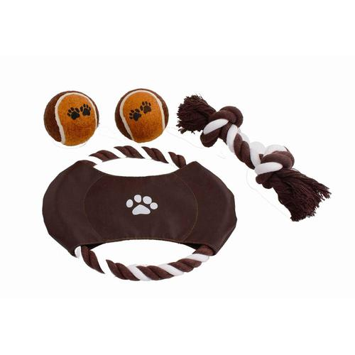 HEIM Outdoor-Spielzeug, Baumwolle, (Set, 4 St.) braun Outdoor-Spielzeug Hundespielzeug Hund Tierbedarf