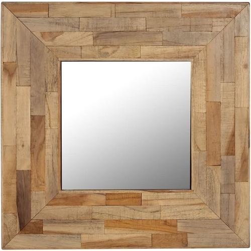 Spiegel Recyceltes Teakholz 50 x 50 cm
