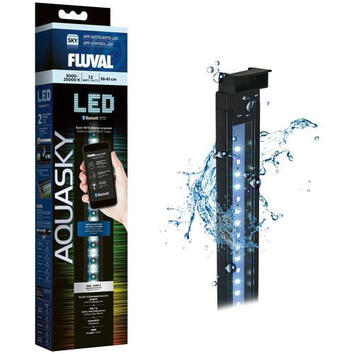 FLUVAL LED Aquariumleuchte FL AquaSky 2.0, 38-61 cm, 12 W schwarz Aquarium-Beleuchtung Aquaristik Tierbedarf