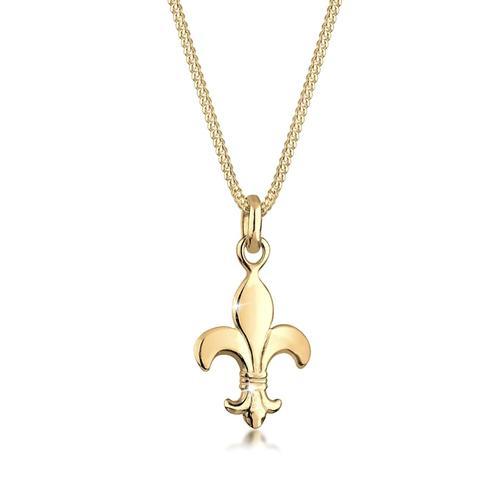 Halskette Schwertlilie Französische Lilie 925 Silber Elli Gold