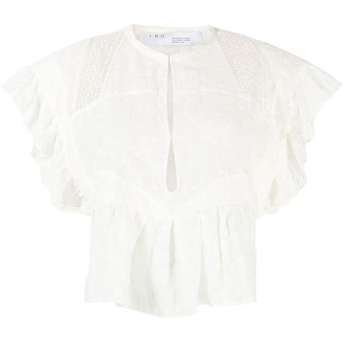IRO Gepunktete Bluse