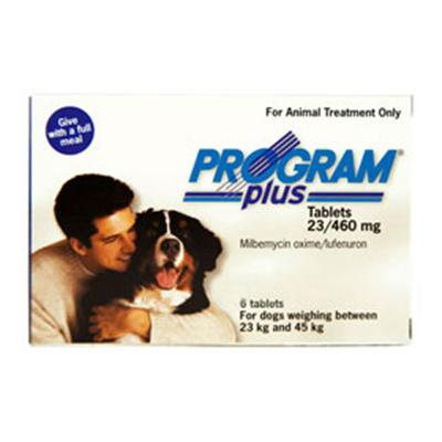 Program Plus for Dogs 46 - 90 lbs (White) 6 Tablet