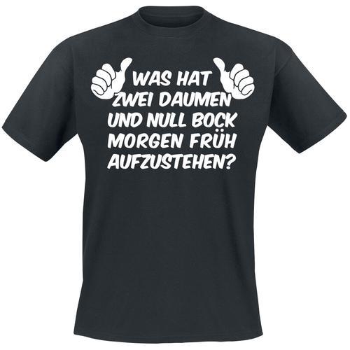 Was hat 2 Daumen... Herren-T-Shirt - schwarz