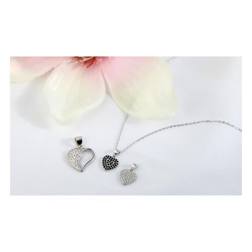 Anhänger in Herzform / Silber / Modell 8