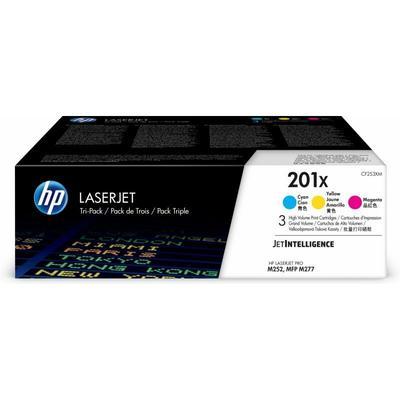 Hewlett Packard - HP 201X 3er-Pack Cyan/Magenta/Gelb Original LaserJet Tonerkartuschen mit hoher