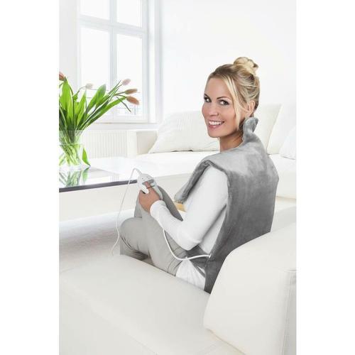 2 in 1 Heizdecke, Massagefunktion, 100 Watt, Grau - Vitalmaxx