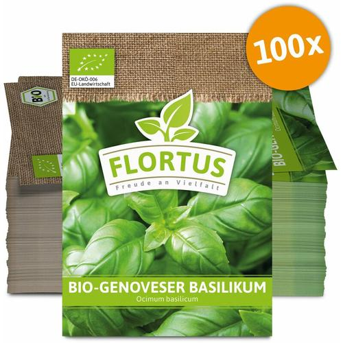 Genoveser Basilikum (100 Tütchen)   BIO Basilikumsamen von FLORTUS