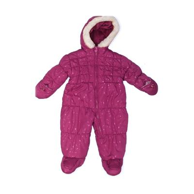 London Fog One Piece Snowsuit: Pink Sporting & Activewear - Size 6 Month