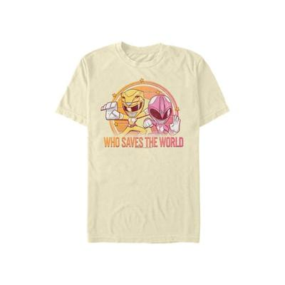Power Rangers Natural Who Saves The World Graphic T-Shirt