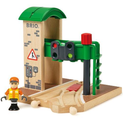 BRIO Spielzeugeisenbahn-Gebäude WORLD Signal Station, FSC-Holz aus gewissenhaft bewirtschafteten Wäldern bunt Kinder Kindereisenbahnen Autos, Eisenbahn Modellbau