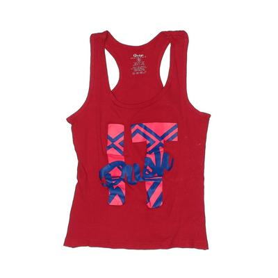 Grip Activewear Active Tank Top: Red Graphic Sporting & Activewear - Size Small