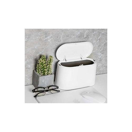 SOEKAVIA Tabletop Mülleimer mit Deckel, Mini Tisch Mülleimer, Bad Kosmetik Mülleimer Mülleimer für