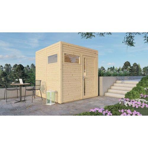 Carlsson - Garten- und Gerätehaus Design Cube , Naturbelassen