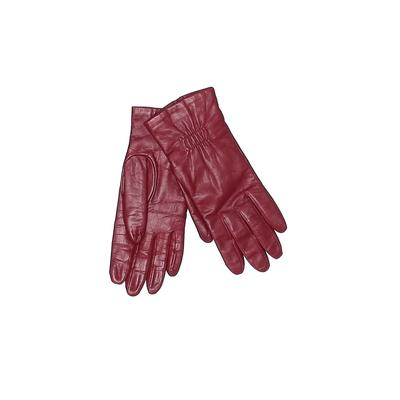 Gloves: Burgundy Solid Accessories - Size Small
