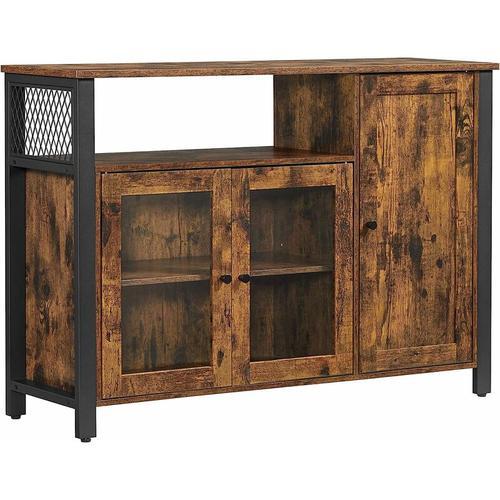 Songmics - VASAGLE Sideboard, Küchenschrank, Aufbewahrungsschrank, mit 3 Türen, für Wohnzimmer,