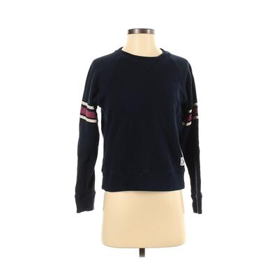 Mother Sweatshirt: Blue Solid Clothing - Size 2X-Small