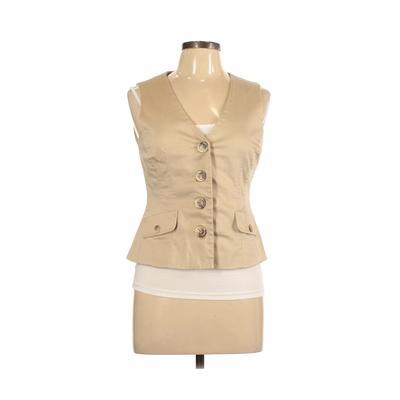 Covington Tuxedo Vest: Tan Solid Jackets & Outerwear - Size Medium