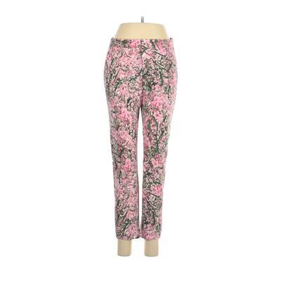 H&M Khaki Pant: Pink Print Bottoms - Size 6