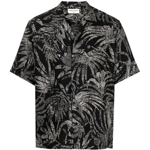 Saint Laurent Hemd mit tropischem Print