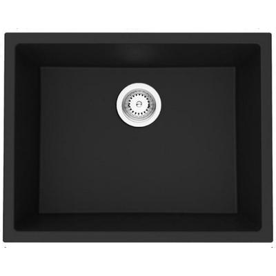 23-in. W CSA Approved Black Granite Composite Kitchen Sink With Granite Composite Finish And 16 Gauge - American Imagination AI-29263