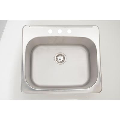 25-in. W CSA Approved Stainless Steel Kitchen Sink With Stainless Steel Finish And 18 Gauge - American Imanginations AI-27623