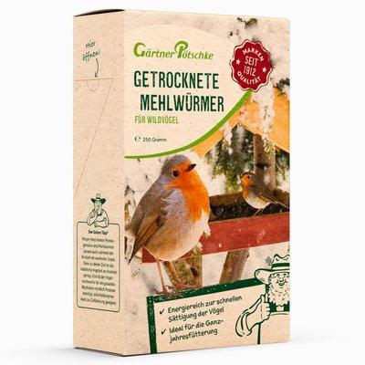 Getrocknete Mehlwürmer für Wildvögel, 250 g