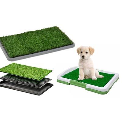 Litière herbe synthétique pour chiens : 68 x 43 x 5 cm