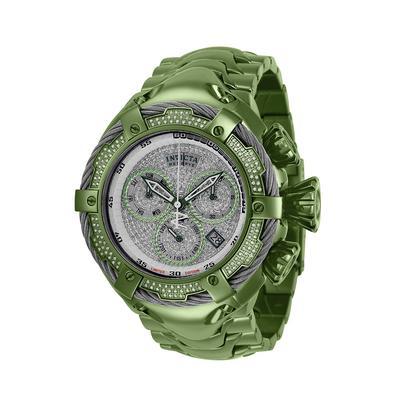 #1 LIMITED EDITION - Invicta Reserve Quartz Men's Pave Silver Light Green w/ 1.63 Carat Diamonds Watch - 52mm - (34287-N1)