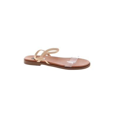 Steve Madden Sandals: Tan Solid Shoes - Size 8