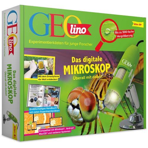 Franzis Kindermikroskop GEOlino, Das digitale Mikroskop grün Kinder Experimentieren