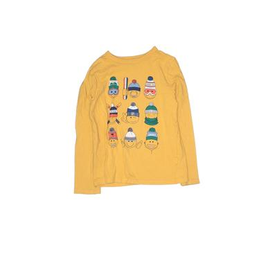 Gap Kids - Gap Kids Long Sleeve T-Shirt: Yellow Solid Tops - Size Small
