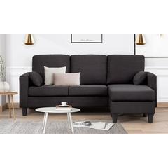 Canapé d angle 3 places et réversible Vernon : Blanc et gris clair