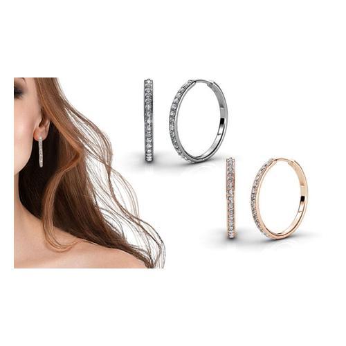 Ohrringe mit Swarovski®-Kristallen: Gold/1