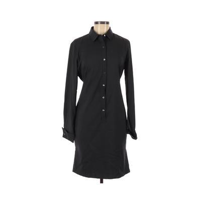 J. McLaughlin - J. McLaughlin Casual Dress - Shirtdress: Black Solid Dresses - Used - Size Medium