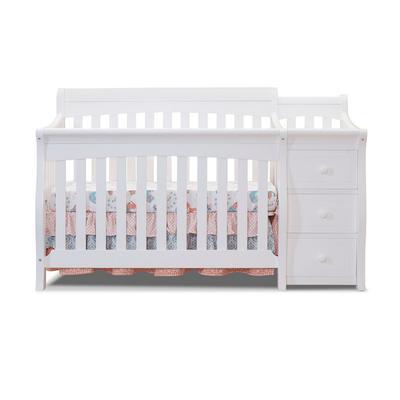 Princeton Elite Crib & Changer in White - Sorelle Furniture 1105-W