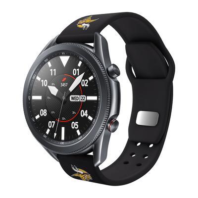 Minnesota Vikings Black 20mm Samsung Compatible Watch Band