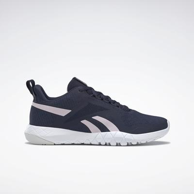 Reebok Women's Flexagon Force 3 Wide D Training Shoes in Vector Navy/Frost Berry/Cold Grey Size 8.5 - Training Shoes