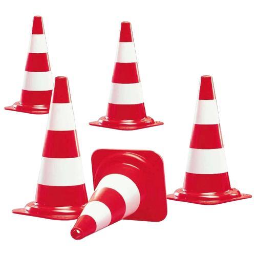 Pylone, Kunststoff, rot, (5 St.), Kegel in Farbe rot mit 2 weißen Streifen Pylone Weiteres Autozubehör Reifen